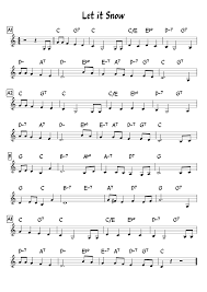 Let It Snow Leadsheet Sheet Music For Piano Download Free