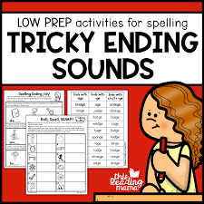 Say a sound and children identify the correct letter(s) by circling/colouring. Tricky Ending Sounds Worksheets This Reading Mama