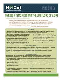 Making A Tsmo Program The Lifeblood A Dot National