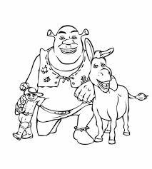 Small Picture Puss in Boots Take Picture with Shrek and Donkey Coloring Pages