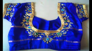Blue Color Saree Blouse Designs Top 10 Blue Colour Blouse Designs Blouse Patterns