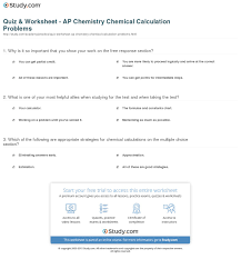 quiz worksheet ap chemistry chemical calculation problems print chemical calculation problems for the ap test worksheet