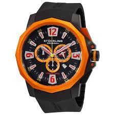 plus de 1000 idées à propos de watches i watch sur stuhrling original men s admiral black orange swiss chronograph rubber strap watch overstock
