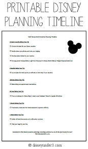 When Should You Start Planning Your Disney Vacation? (With Printable ...