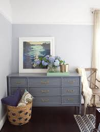 gray bedroom dresser. Interesting Dresser Stunning Bedroom Features A Gray Bamboo Dresser With 9 Drawers Adorned  Gold Pulls Topped Mint Green Lacquer Tray And Art In Gray Bedroom Dresser H