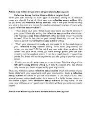 Internship Reflection Paper Template