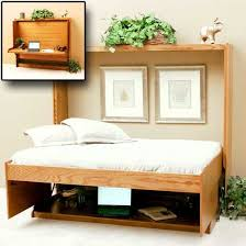 wall bed office. horizontal wall bed with desk note how everythings stays on the table and fits below office