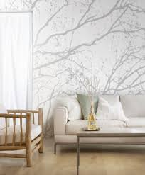 Tender neutral and pastel colors, combined with nature inspired modern  wallpaper, is a wonderful way to dress up ...