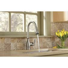 Review Of Kitchen Faucets Moen Brantford Single Handle Pull Down Sprayer Kitchen Faucet With