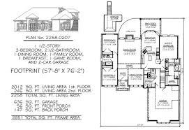 bedrooms  ½ story     square feet   Story  Bedroom    Bathroom  Dining Area  Family Room  Breakfest  Game Room  Car Garage  Square Feet House Plan
