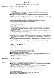 Document Specialist Job Description Resume Clinical Resume Samples Velvet Jobs 17
