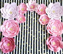 Giant Paper Flower Backdrop Giant Paper Flowers Pink Gold Paper Flower Backdrop Giant Flower