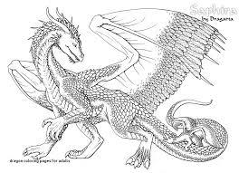 11 Unique Realistic Dragon Coloring Pages Coloring Page