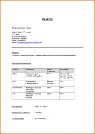 Resume Format Free Download In Ms Word 2007 Free Fresher Resumeat Download For Engineering Mca Freshers Pdf 37