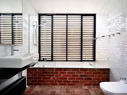view in gallery fun way to showcase exposed brickwork in the modern bathroom design wolveridge architects