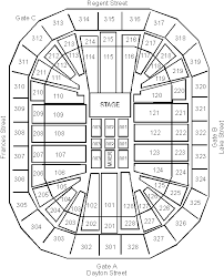 68 Right Kohl Center Seating Map