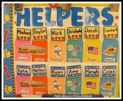 Kindergarten Helpers Chart Fascinating Kindergarten
