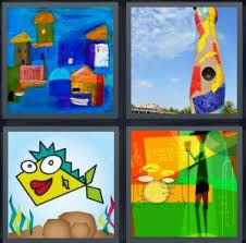 4 <b>Pics 1</b> Word Answer for Painting, Sculpture, Fish, Musician | Heavy ...