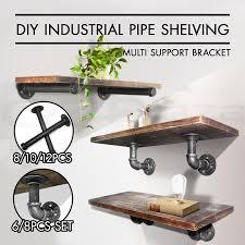 industrial pipe furniture. Rustic-Vintage-Mount-Bracket-Set-Industrial-DIY-Pipe- Industrial Pipe Furniture O