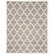 safavieh amherst dark gray beige 9 ft x 12 ft indoor outdoor area rug amt420r 9 the home depot