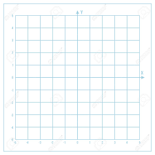 Blue Vector Metric Graph Paper With Coordinate Axis Grid Accented