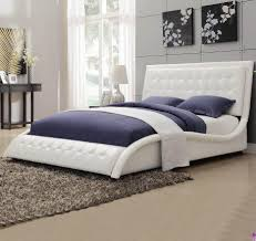 tully white upholstered bed