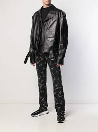 Balenciaga <b>Eiffel Tower Print</b> Slim Jeans   Farfetch.com