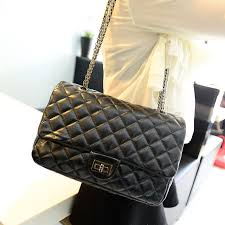 Quilted Black Leather Handbag - Suitcase Apps & Quilted Black Leather Handbag 3BJGkshH. Popular Black Quilted Chain Strap  ... Adamdwight.com