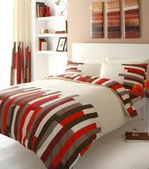 red printed king size duvet cover bed set co uk kitchen home