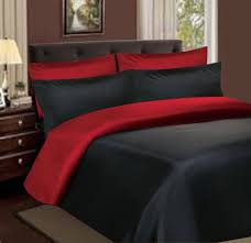 cover sweetgalas more views satin bedding black and red