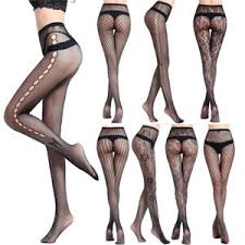 Patterned Pantyhose Adorable Women's Fashion Black Lace Fishnet Hollow Patterned Pantyhose Tights