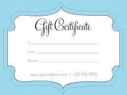 Personalised Gift Vouchers Templates Personal Gift Card Template