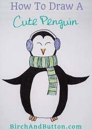 cute penguin drawing. Plain Cute A Perfect Cold Weather Drawing Project This Cute Wintery Penguin Takes  Much Less Time To For Cute Penguin Drawing U