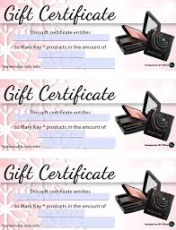 Free Mary Kay Gift Certificate Template Archives Southbay Robot