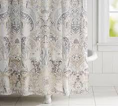 Shower curtains Cute Celeste Print Shower Curtain Pottery Barn Shower Curtains Shower Curtain Rings Pottery Barn