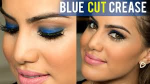 night out blue makeup you
