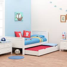 single bed with trundle bed by stompa
