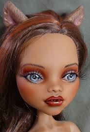 17 clawdeen wolf repaint monster high