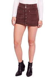 Free People Skirt Size Chart Free People Womens Joanie Cord Solid Skirt At Amazon
