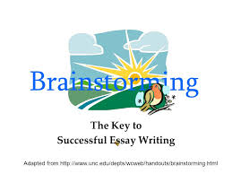 brainstorming ppt the key to successful essay writing