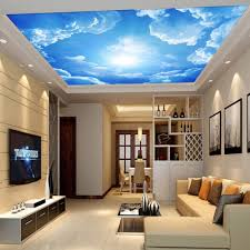 details about 3d wallpaper blue sky clouds white for living room bedroom ceiling home interior