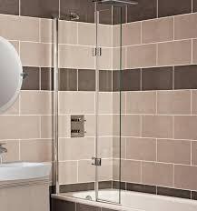 frosted glass bath panels. lumin8 outward folding bath screen frosted glass panels