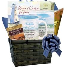 art and gifts words of fort sympathy gift basket