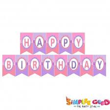 Purple Happy Birthday Banner Happy Birthday Banner Pink And Purple 8 Inch Each Simplee Good