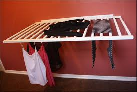 outstanding practical laundry rack designs that dont stand out in wall racks for clothes modern