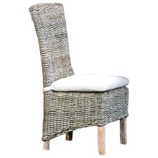 wicker dining chair cushions indoor elegant furniture chairs and ott weathered gray with tie cushion seat dining room