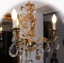 Alter Antiker Kronleuchterlüsterkristallkrone Aus Dem Elsaß