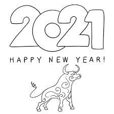 Say goodbye to the year of the rat, and hello to the year of the ox. Happy New Year 2021 Coloring Pages Coloring Books