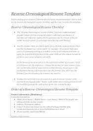 Resume Template Chronological Format Modern Chronological Resume Template Free Samples Examples Format Sample