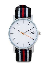 men s canvas strap watch by 24 01 canvas strap and metal case men s canvas strap watch by 24 01 canvas strap and metal case multi